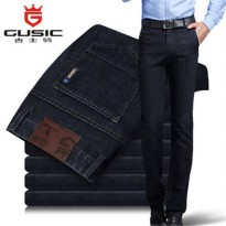 [globalbuy] Simple Mens Jeans Brand GUSIC Jeans Summer Big Size (28-44) Pants Denim Casual/4137775