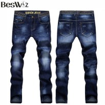 [globalbuy] 2016 Beswlz New Arrival Men Jeans Pants Casual Fashion Classical Denim Jeans M/4137616