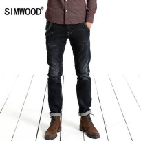 [globalbuy] Simwood Jeans Men 2016 New Arrival Brand Fashion Casual Slim Fit Straight Long/4137553
