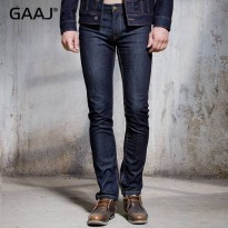 [globalbuy] RAW Denim Men Jeans Straight Male Jean Classic Skinny Ripped Slim Black Blue B/4137587