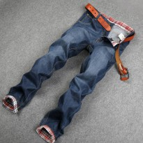 [globalbuy] Fashion street style good quality men jeans classic cotton denim jeans men bra/4137453