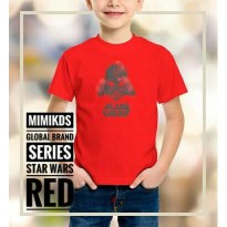 (Termurah) Kaos anak muslim arabic star wars red - MIMI KIDS