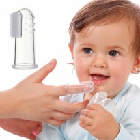 Little Baby Silicone Finger Tooth Brush With Case / Sikat Lidah Bayi   BPA Free