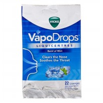 Vicks Vapo Naturals Liouicentres Burst Of Mint Candy 70g
