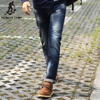 [globalbuy] Pioneer Camp. Fashion 2016 autumn new jeans men cotton Casual pants hole jeans/4137331
