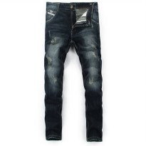 [globalbuy] Dsel brand biker jeans brand design dark blue color full length mens denim jea/4137327