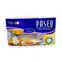 Tissue Dapur Paseo Elegant Towel Roll White Tip to Tip (3 Rolls/2 Ply/70's)