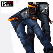 [globalbuy] Plus Size 40 42 44 46 48 Male Jeans Homme Straight Fit Mens Denim Pants 2016 F/4137271