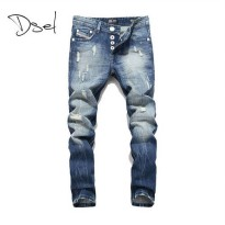 [globalbuy] Dsel brand mens ripped jeans slim straight size 40 38 high quality classical b/4137239