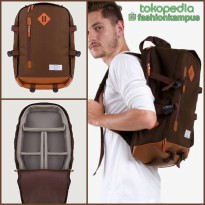 (Termurah) Camera Backpack - Tas Ransel Kamera Bag - Esgotado - Camero  - Brown