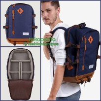 (Termurah) Camera Backpack - Tas Ransel Kamera Bag - Camero Primeiro - Navy