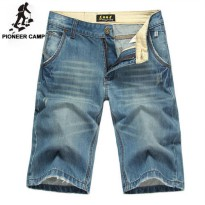 [globalbuy] Pioneer Camp summer short jeans men moustache effect men pants denim slim stra/4137155