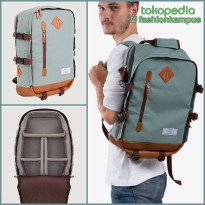 (Termurah) Camera Backpack - Tas Ransel Kamera Bag - Esgotado - Camero Green eco