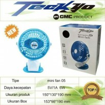 Promo GMC produk teckyo mini fan 05 Kipas Angin Mini Jepit kecil cas charge  Zn3013