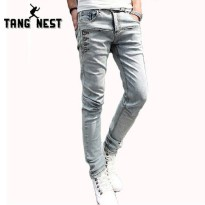 [globalbuy] Hot Selling 2016 New Arrival Fashion Mens Jeans Casual Straight Full Length De/4136795