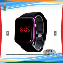 JKT Jam Tangan Fashion Digital Square List Warna - Led Watch Wanita Pr
