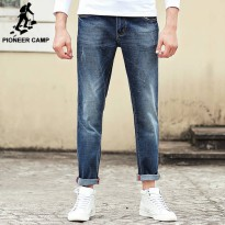 [globalbuy] Pioneer Camp Jeans men brand clothing high quality Slim male Casual Pants Qual/4136508