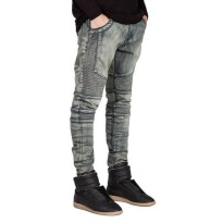 [globalbuy] 2016 Men Jeans Biker Jeans Hiphop Skinny Jeans For Men Denim Fashion Jeans Q65/4136540