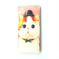 London Berry by HUER - Laury Printed Wallet Cat Pink