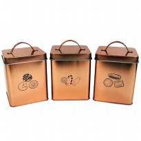 Toples Ibiza Canister Set of 3 Atria