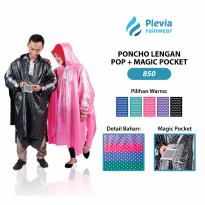 Jas Hujan Ponco Pop Plus Magic Pocket Plevia 850 Poncho Motor Unisex