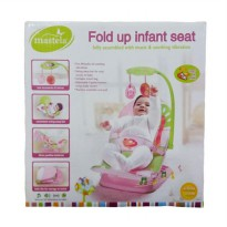 BOUNCER BABY MASTELA FOLD UP INFANT SEAT PINK