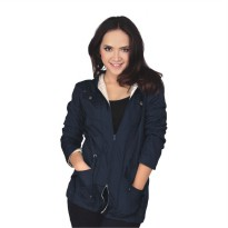 Catenzo Jacket Parka Wanita DIx051 Navy Blue