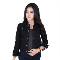 Catenzo Jaket Denim Wanita BEx066 Black