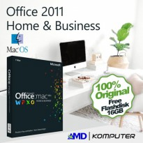 Office Home and Business 2011 For Mac Original License with (FD 8Gb)