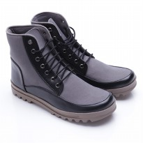 Dr.Kevin Boot Shoes Canvas/Leather 4013 Grey/Black