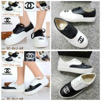 Sepatu ChanneL Semprem Black - White!!UK 35 - 40!!!