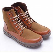 Dr.Kevin Boot Shoes Canvas/Leather 4013 Tan