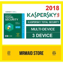 Kaspersky Total Security / Pure 2018 3 PC 1 Tahun