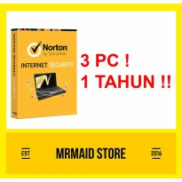 Norton Internet Security 3 PC 1 Tahun