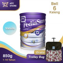 Pediasure Complete Triplesure Vanilla 850gr 6 kaleng + Trolley Bag