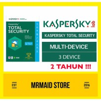 Kaspersky Total Security 3 / Pure 2017 PC 2 Tahun