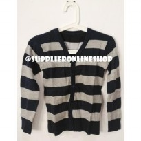 cardigan salur rajut spandek all size fit to L