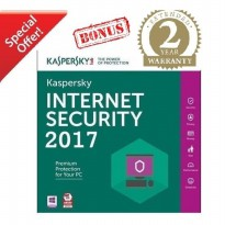 [PASTI DAPAT BONUS!] Kaspersky Internet Security (KIS) 2017 - 2PC 2THN