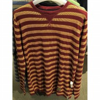 (Termurah) Sweater Eiger Stripedia - Maroon