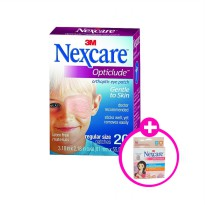 3M Nexcare Opticlude Orthoptic Eye Patch Regular - Free Nexcare Cold Hot Pack Maternity Compress