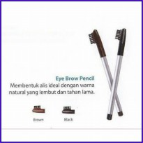 Wardah Eyebrow Pencil with Brush Original - Pensil Alis + Sikat