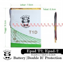 Baterai Aldo Epad T2 Epad 2 Tablet T1D Double IC Protection