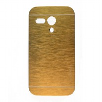 Motomo Metal Hard Back Ultra Thin Fit Slim Case For Motorola Moto G - Gold