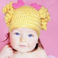 Topi Bayi / Kupluk / Baby Hat / Yellow Spiral Hat / Aksesoris Bayi / Hair Accessories Baby