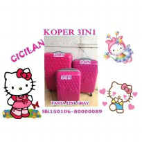 KOPER HELLO KITTY 1 SET ISI 3 FANTA LIST GREY