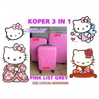 KOPER HELLO KITTY 1 SET ISI 3 PINK LIST GREY