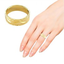 1901 JEWELRY CINCIN GOLD PLEATED (LAPIS EMAS 24K) | Size 9 - 17