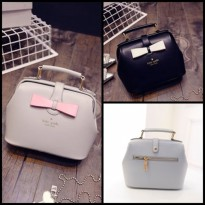 TAS FASHION WANITA IMPORT - HANDBAGS - M21127 BLACK GRAY KATE SPADE