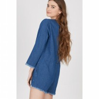 Gwen Elzach Playsuit in Blue