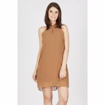 Gwen Hachen Dress in Brown